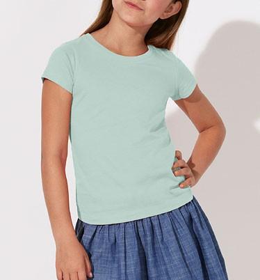 Kinder T-Shirt - Mini Draws Bio-Baumwolle - caribbean blue - Bild 1