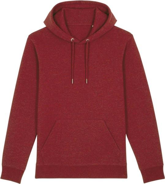 Unisex Hoodie aus Bio-Baumwolle - heather neppy burgundy