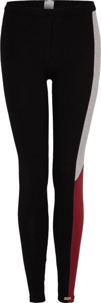 Leggings aus Fairtrade Biobaumwolle - schwarz-rot-grau