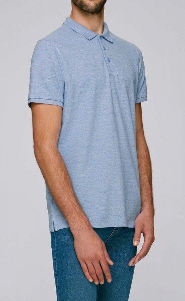 Competes - Klassisches Poloshirt aus Bio-Baumw. - cream h. blue - Bild 1