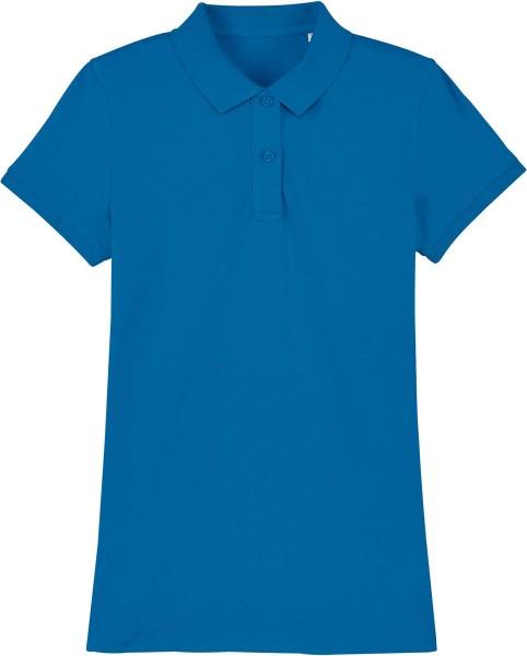 Piqué-Poloshirt aus Bio-Baumwolle - royal blue