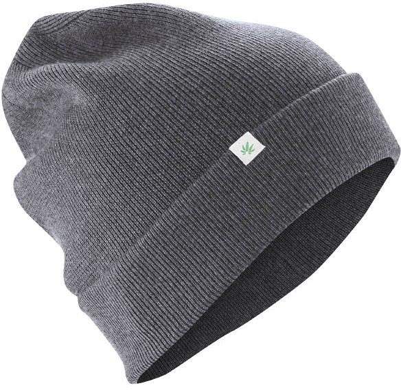 Wintermütze aus Wolle, Bio-Baumwolle und Hanf - anthrazit