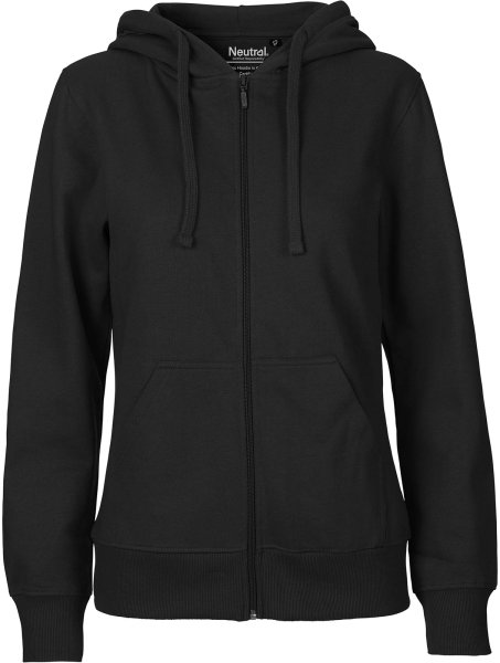 Organic Zip-Up Hoodie Fairtrade schwarz - Bild 1