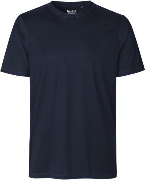Performance T-Shirt aus recyceltem Polyester - navy