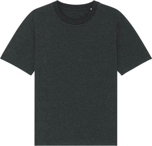 Oversized T-Shirt aus Bio-Baumwolle - dark heather grey