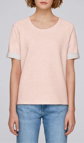 Slides - Kurzarm-Sweater aus Biobaumwolle - cream heather pink - Bild 1