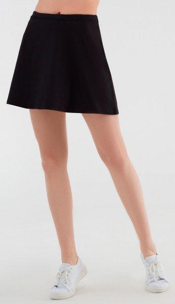 Minirock aus Bio-Baumwolle - schwarz