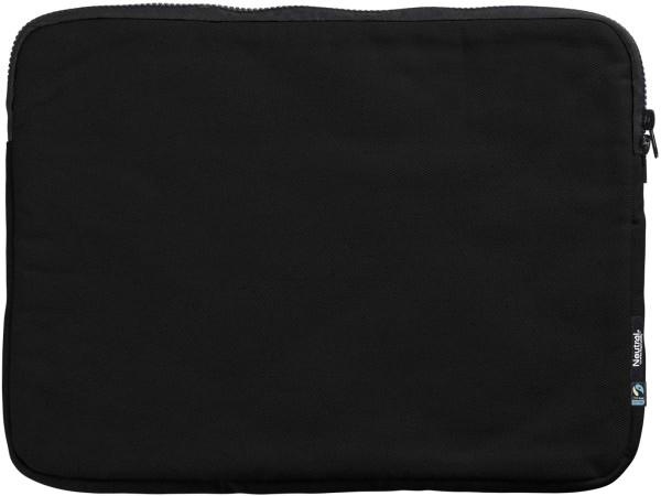 Laptop-Tasche schwarz Fairtrade Biobaumwolle Neutral