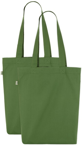 DOPPELPACK - ORGANIC COTTON BAG - LEAF GREEN