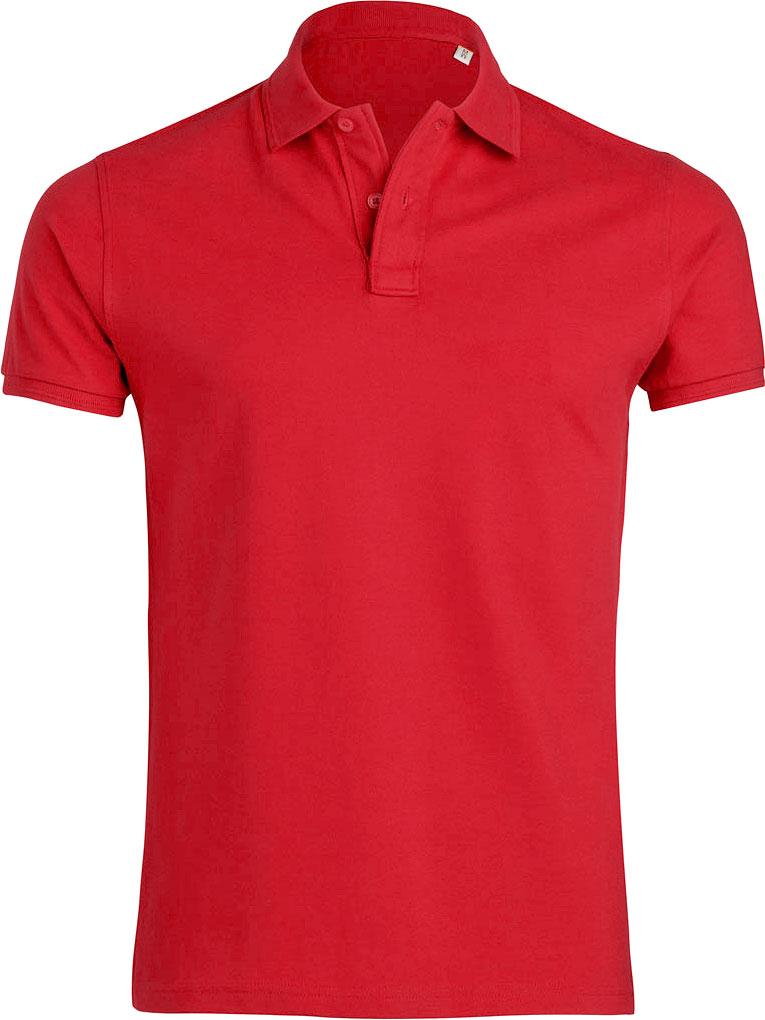 rotes herren polo shirt aus bio baumwolle pique polo. Black Bedroom Furniture Sets. Home Design Ideas