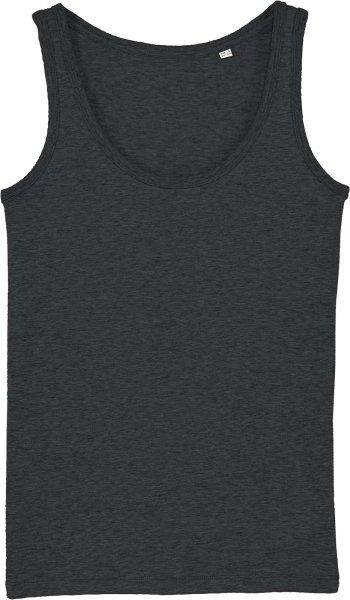 Tank-Top aus Bio-Baumwolle - dark heather grey