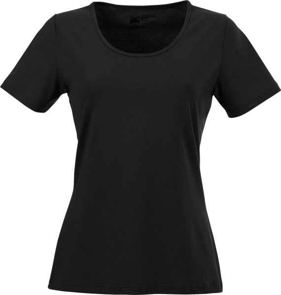 Change - T-Shirt mit weitem Ausschnitt - Biobaumwolle schwarz - Bild 1