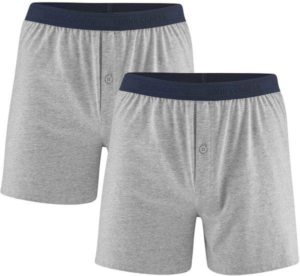 Boxer-Shorts aus Bio-Baumwolle - Doppelpack - stone grey