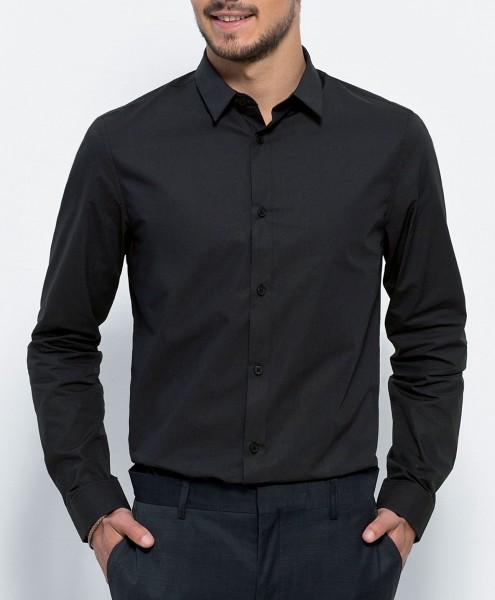 Manages - Business-Hemd aus Biobaumwolle - schwarz - Bild 1