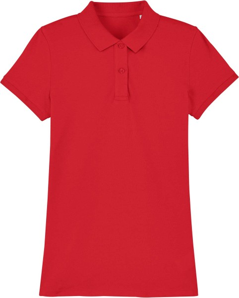 Piqué-Poloshirt aus Bio-Baumwolle - red