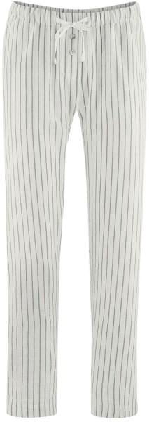 Schlaf-Hose Bio-Baumwolle und Leinen - reed/white