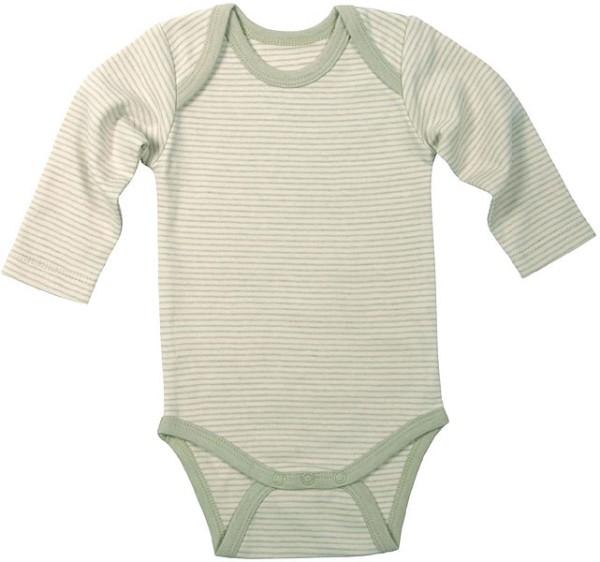 Baby Langarm-Body aus Bio-Baumwolle - hayday striped - Bild 1