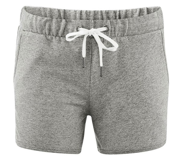 Ladies Sweat-Shorts aus Bio-Baumwolle - stone grey