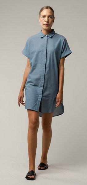 Fairtrade Blusenkleid Amoli aus Bio-Baumwolle - blau chambray