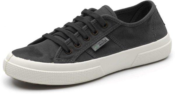Basket Enzimatico - Schnürschuhe aus Bio-Baumwolle - negro - Bild 1