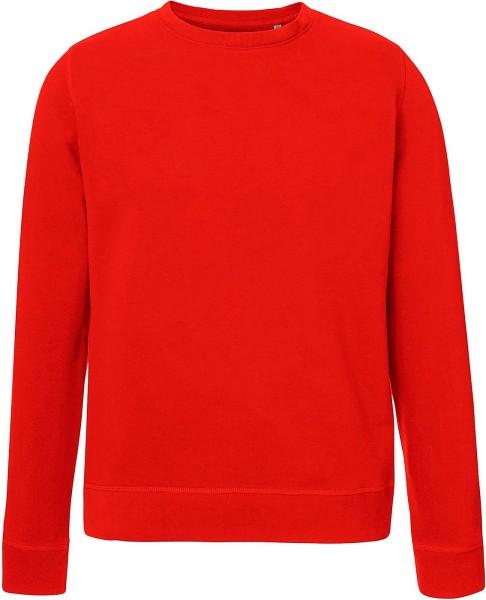 Sweatshirt Bio-Baumwolle - bright red