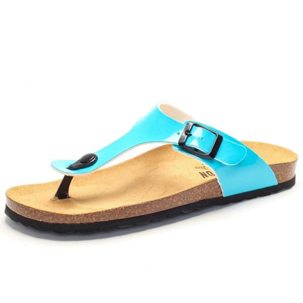 Zehensandale mit Fußbett - charol sintetico - aqua