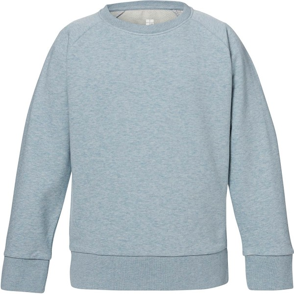 Unisex Kinder Sweatshirt Bio-Baumwolle - heather ice blue