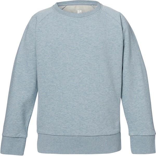 Unisex Kinder Sweatshirt Bio-Baumwolle - heather ice blue