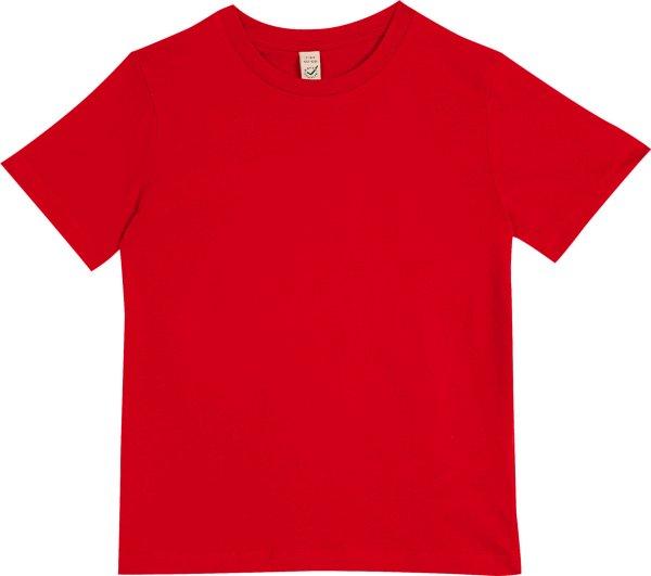 Kinder T-Shirt aus Bio-Baumwolle - rot