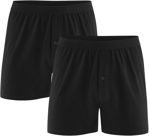 Boxer-Shorts aus Bio-Baumwolle - Doppelpack - black