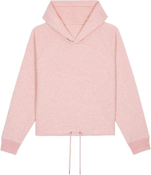 Kurzer Hoodie aus Bio-Baumwolle - cream heather pink