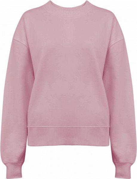 Schweres Sweatshirt aus Biobaumwolle - purple rose