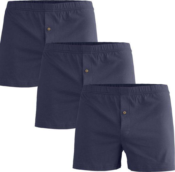 Boxershorts aus Bio-Baumwolle - 3er-Pack - dunkelblau