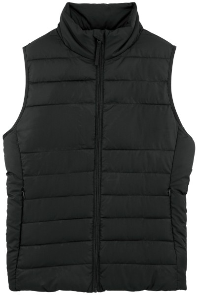 Body Warmer Weste recyceltes Polyester schwarz