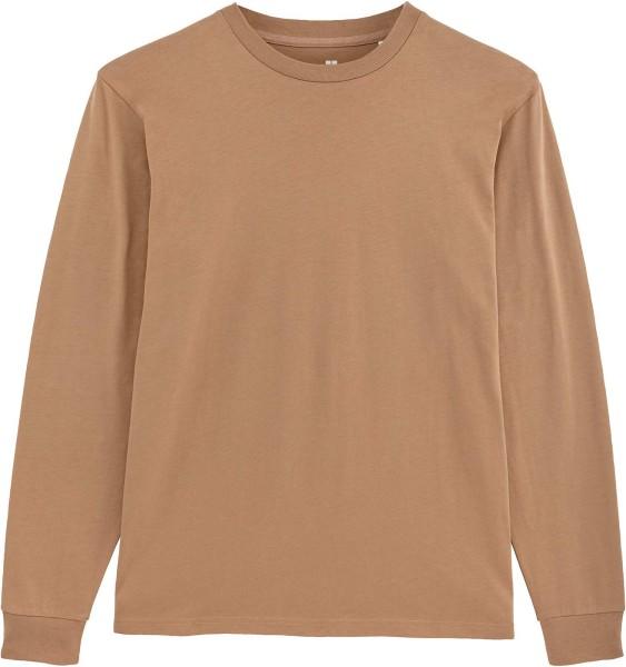 Langarmshirt aus Bio-Baumwolle - camel
