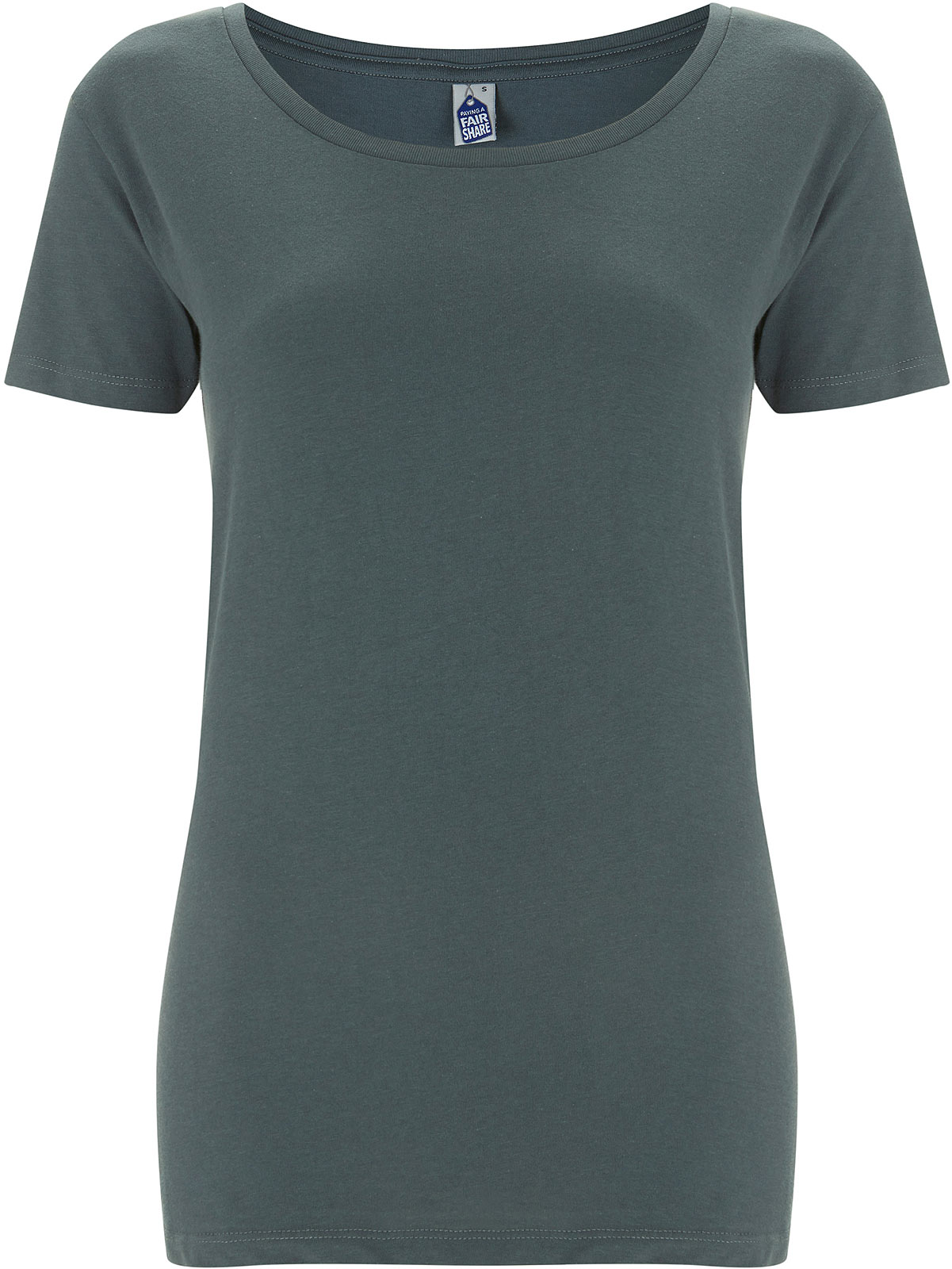 huge selection of 6ed7e de366 T-Shirt aus Fairtrade Bio-Baumwolle - light charcoal