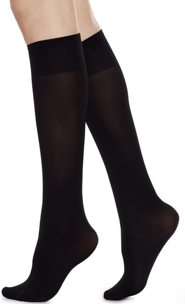 Ingrid Premium Knee-Highs - Kniestrümpfe aus Nilit - black
