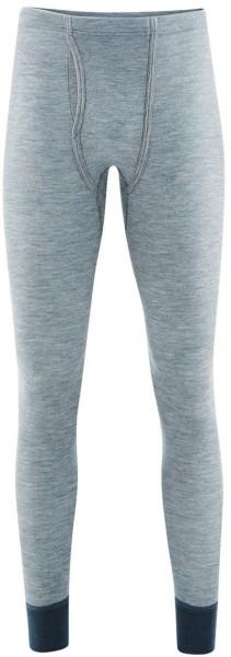 Lange Herrenunterhose - Wolle/Seide blue melange