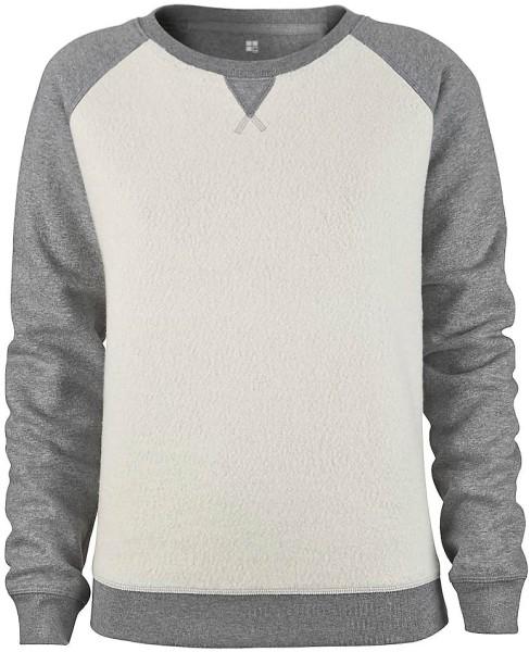 Inside-Out Pullover - Bio-Baumwolle - dunkelgrau meliert