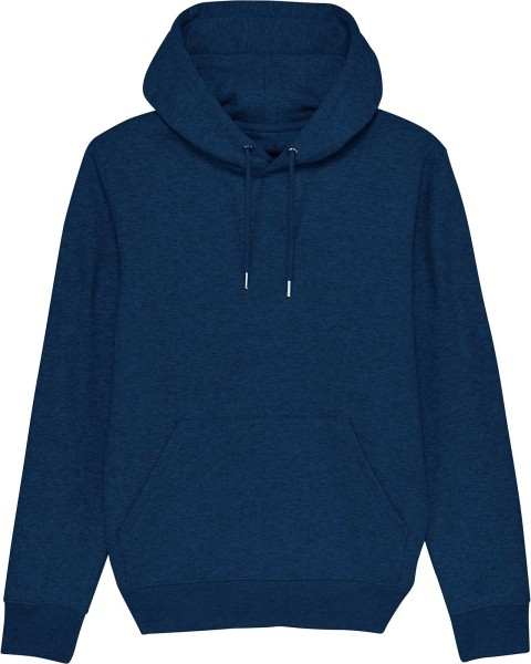 Unisex Hoodie aus Bio-Baumwolle - black heather blue