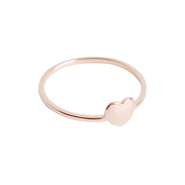 Herz Ring II – rosé vergoldet