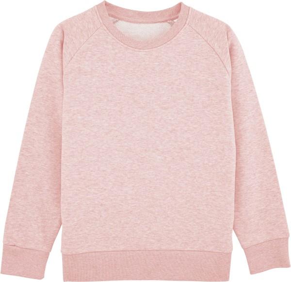 Unisex Kinder Sweatshirt Bio-Baumwolle - cream heather pink