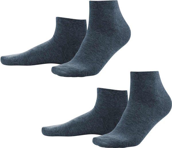 Sneaker-Socken aus Bio-Baumwolle - dark navy - Bild 1