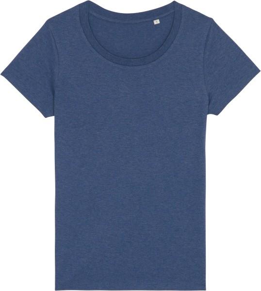 Basic T-Shirt aus Bio-Baumwolle - dark heather indigo