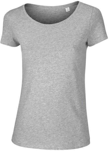 Loves - Jerseyshirt aus Bio-Baumwolle - grau meliert