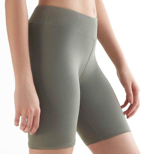 Biker Shorts aus Recycle-Polyester - light green