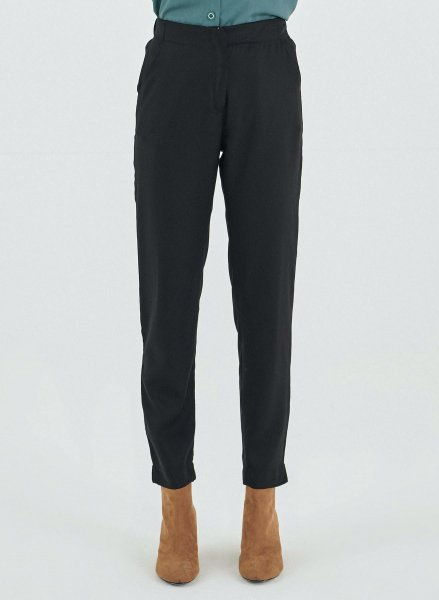 Hose aus Tencel - black