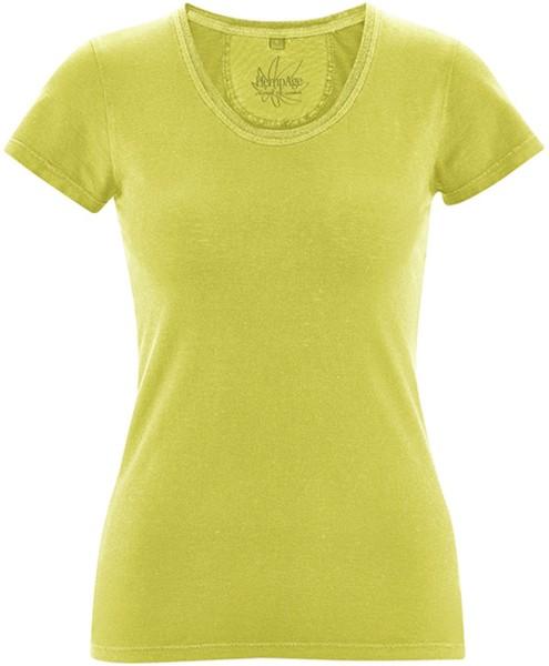 T-Shirt aus Bio-Baumwolle und Hanf - apple