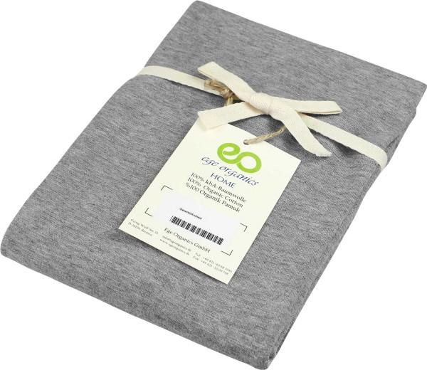 Kissenbezug aus Bio-Baumwolle - grau-meliert