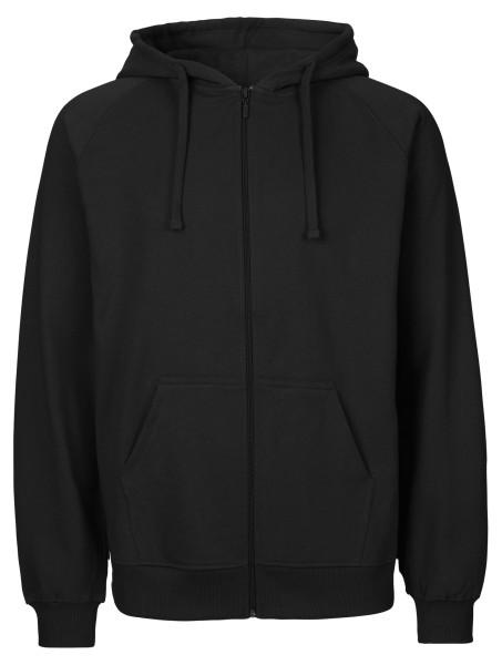 Zip-Up Hoodie aus Fairtrade Bio-Baumwolle - schwarz